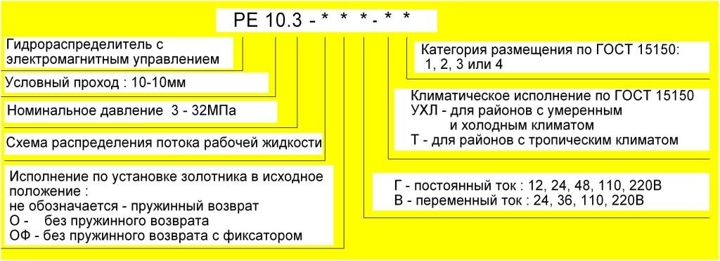 Схема условного обозначения РЕ 10.3-574Е