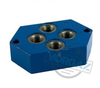 Плита присоединительная для гидрораспределителей Р6.3